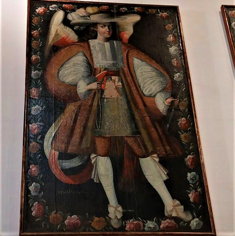 ángeles arcabuceros en uquia
