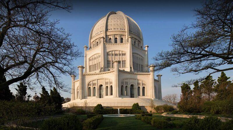 El templo Bahaí de los Estados Unidos en Wilmette, Illinois