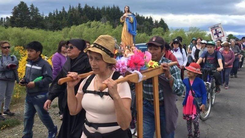 Celebraciones religiosas argentinas peregrinacion a trevelin