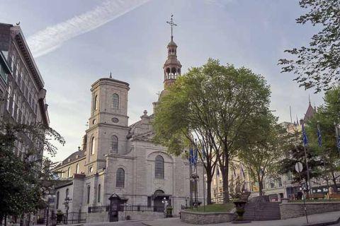 vista exterior de la catedral de quebec