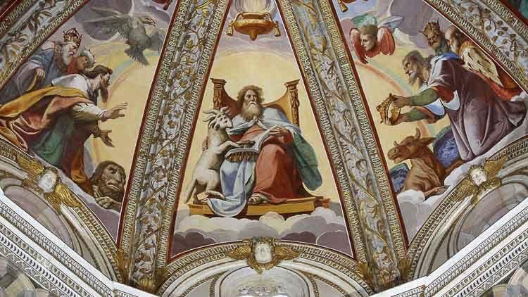 Cúpula del templo de la Cartuja de Pavía, Abadías Italianas - Crédito Roberto Ferrari