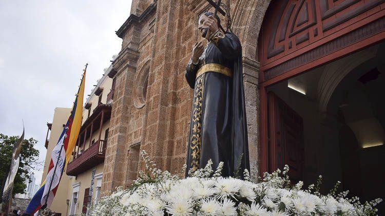 Imagen procesional de San Pedro Claver
