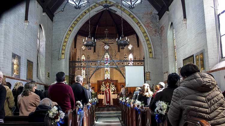 Interior durante la celebración de los 150 años – Crédito Iglesia Anglicana Rosario
