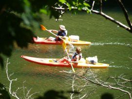 Canoas individuales en el Sella