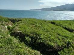 Línea de trincheras en la Playa de la Isla