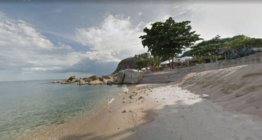 Конец пляжа Ламаи