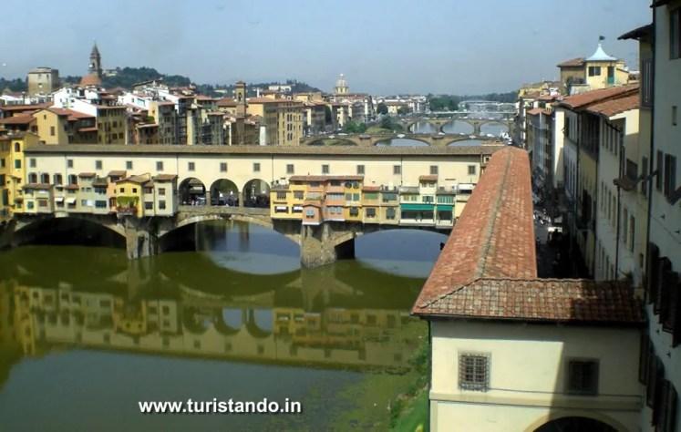 Firenze 25giu082 As mais lindas pontes da Europa que atravessei