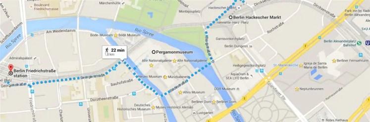 berlin Pergamonmuseum mapa2 O Neues Museum em Berlim