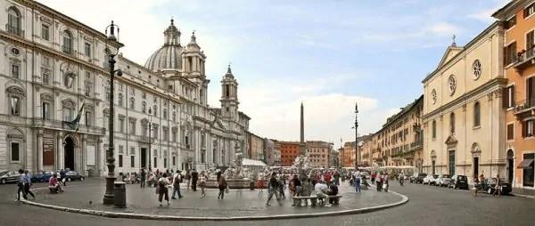 Piazza Navona Rome e1510439372952 600x254 Os 20 mais importantes pontos turísticos em Roma