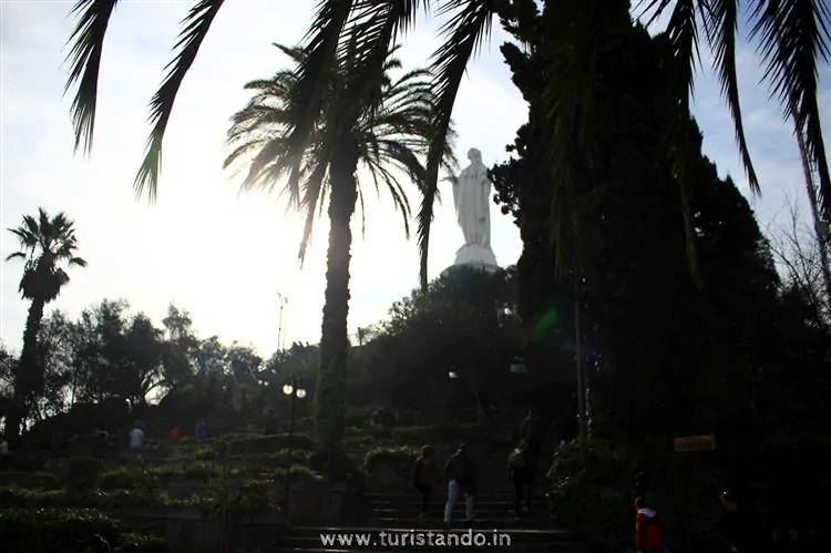 %name O Cerro San Cristóbal em Santiago do Chile