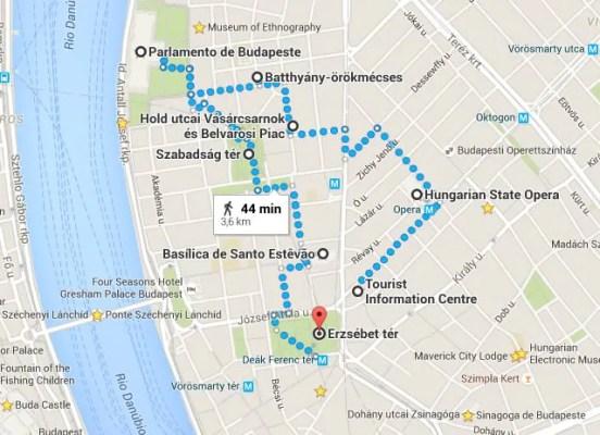 Peste map Conhecendo o lado Peste em Budapeste