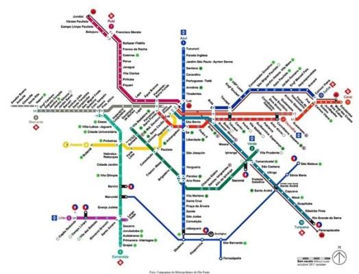 linha metro de sp 524x400 Como pegar o trem para o Aeroporto de Guarulhos (opção até o Brás)