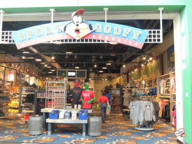 Loja de artigos da Disney ainda na área central