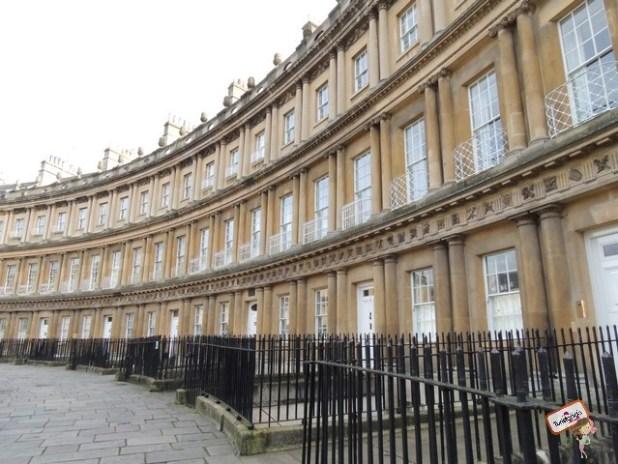 Royal Crescent na parte alta de Bath