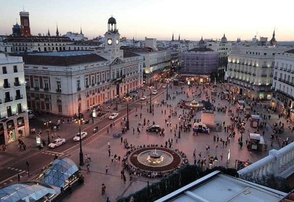 Puerta del Sol en Madrid