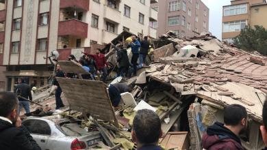 Photo of تفاصيل حادث انهيار مبنى مكون من 8 طوابق في منطقة كارتال بإسطنبول (فيديو)