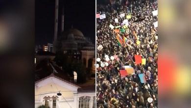 Photo of فتيات من المعارضة التركية تُسيء للأذان خلال تجمع في إسطنبول وأردوغان يرد بقوة