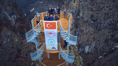 Photo of افتتاح شرفة مطلة على ثاني أعمق أخدود في العالم في ولاية تركية