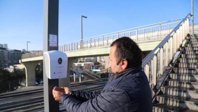 "Photo of أجهزة تعقيم اليدين في مواقف ""الميتروبوس"" باسطنبول للوقاية من ""كورونا"""