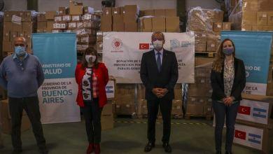 Photo of الأرجنتين تتسلم مساعدات طبية من تركيا