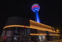 "Photo of أسباب إضاءة برج ""أتاكوله"" بألوان علمي تركيا والاتحاد الأوروبي في أنقرة"