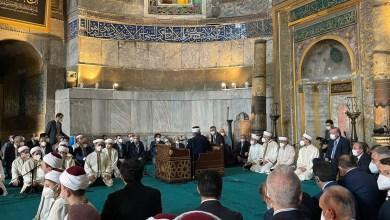 Photo of شاهد .. أردوغان يتلو القرآن مع حفظة القرآن في مسجد آيا صوفيا