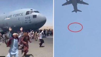 Photo of مشهد صادم لسقوط أشخاص من طائرة عسكرية أميركية عقب إقلاعها من مطار كابل