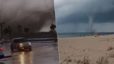 Photo of حالة ذعر تصيب رواد شاطيء بسبب الإعصار في ساكاريا
