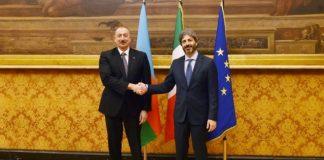 Azərbaycan Respublikasının Prezidenti İlham Əliyev və İtaliya Respublikası Deputatlar Palatasının sədri Roberto Fiko