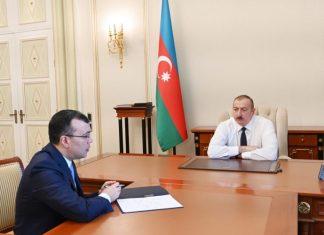 Azərbaycan Respublikasının Prezidenti İlham Əliyev Əmək və Əhalinin Sosial Müdafiəsi naziri Sahil Babayevi qəbul edib