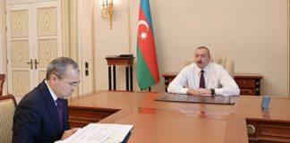 Azərbaycan Respublikasının Prezidenti İlham Əliyev İqtisadiyyat naziri Mikayıl Cabbarovu qəbul edib
