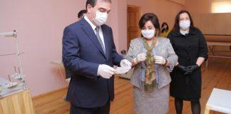 Gəncədə tibbi maska istehsalı