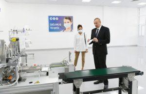 tibbi maska fabrikinin və qoruyucu kombinezonların istehsalı müəssisəsinin açılışı