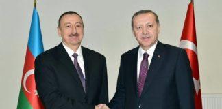 Azərbaycan Respublikasının Prezidenti İlham Əliyev və Türkiyə Respublikasının Prezidenti Rəcəb Tayyib Ərdoğan