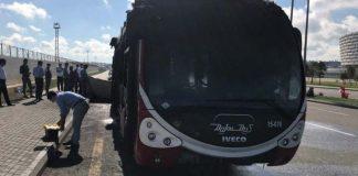 Bakıda avtobusda baş vermiş yanğın