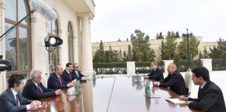 Türkiyənin Xarici İşlər naziri Mövlud Çavuşoğlu və Azərbaycan Prezidenti İlham Əliyev