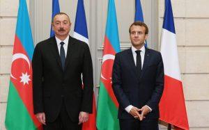 Azərbaycan Respublikasının Prezidenti İlham Əliyev və Fransa Prezidenti Emmanuel Makron