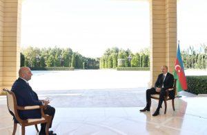 """Prezident İlham Əliyev Türkiyənin """"Haber Türk"""" televiziya kanalına müsahibə verib"""