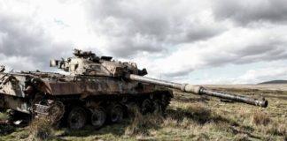 Laçın-Şuşa yolunda düşmən tankının məhv edilmə anı