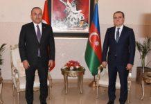 Mevlüt Çavuşoğlu və Ceyhun Bayramov