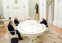 Moskvada Rusiya Prezidenti Vladimir Putin, Azərbaycan Prezidenti İlham Əliyev və Ermənistanın baş naziri Nikol Paşinyan arasında üçtərəfli görüş keçirilir