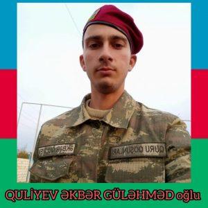 çavuşQuliyev Əkbər Güləhməd oğlu