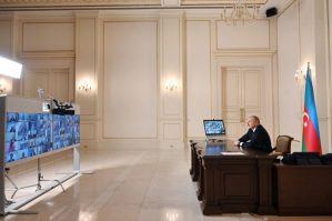 Prezident İlham Əliyev Cənub Qaz Dəhlizi Məşvərət Şurası çərçivəsində nazirlərin videokonfrans formatında VII iclasında çıxış edib
