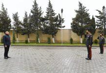 """Prezident İlham Əliyev Daxili Qoşunların yeni inşa olunan """"N"""" hərbi hissəsinin açılışında iştirak edib"""