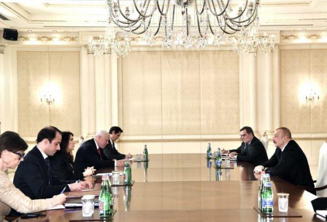 Prezident İlham Əliyev ATƏT-in fəaliyyətdə olan sədrinin başçılıq etdiyi nümayəndə heyətini qəbul edib