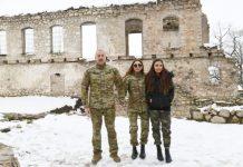 Prezident İlham Əliyev və birinci xanım Mehriban Əliyeva Füzuli və Xocavənd rayonlarında olublar