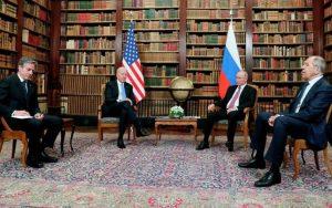 Rusiya lideri Vladimir Putin və ABŞ prezidenti Co Bayden