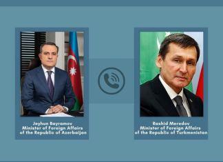 Azərbaycan və Türkmənistan xarici işlər nazirləri arasında telefon danışığı olub