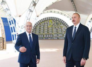 Prezident İlham Əliyev Ələt Azad İqtisadi Zonasının təməlini qoyub, Azərbaycan Televiziyasına müsahibə verib