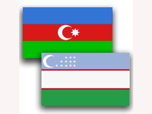 Azərbaycan və Özbəkistan bayraqları